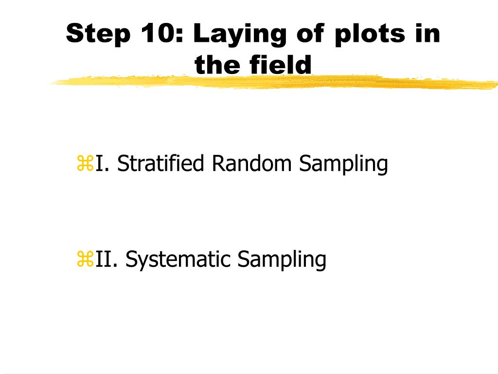 Step 10: Laying of plots in the field