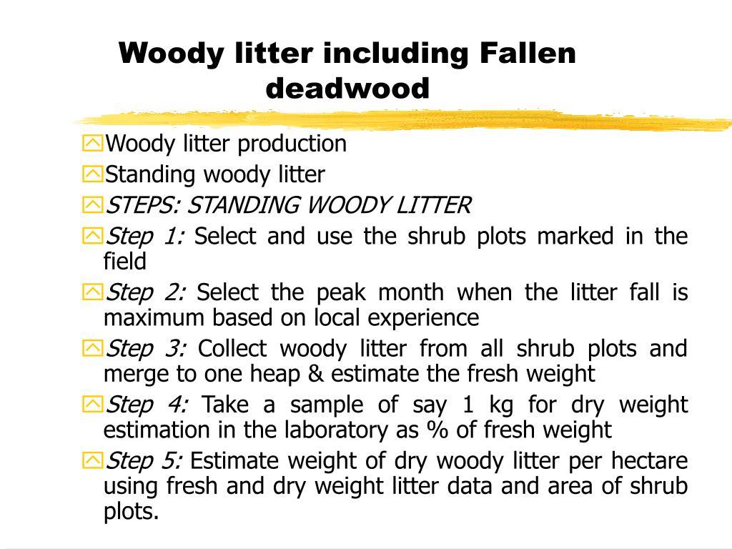 Woody litter including Fallen deadwood