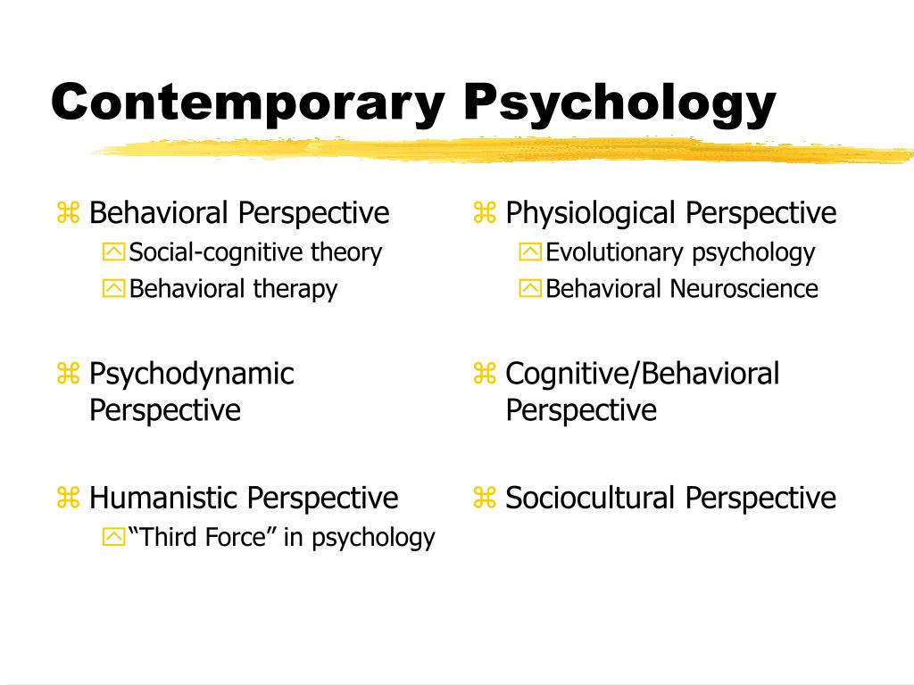 psychodynamic behavioral and cognitive perspectives