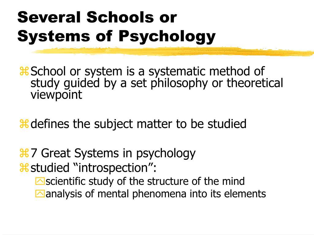 Several Schools or
