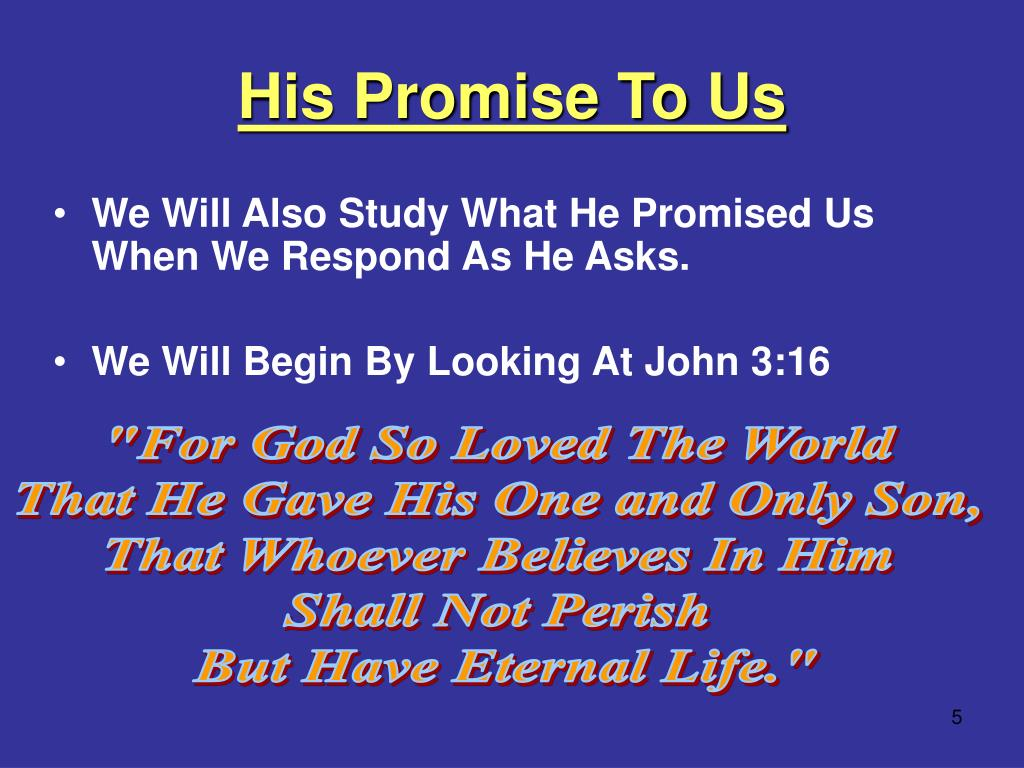 His Promise To Us