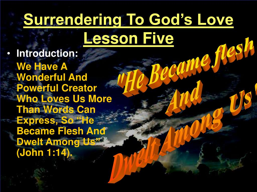 Surrendering To God's Love