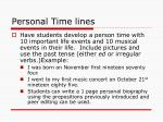 personal time lines