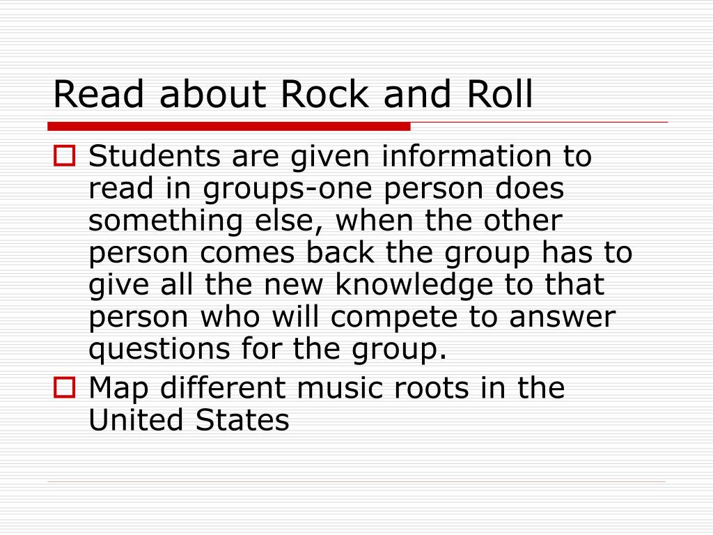 Read about Rock and Roll