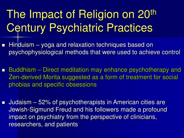 The Impact of Religion on 20