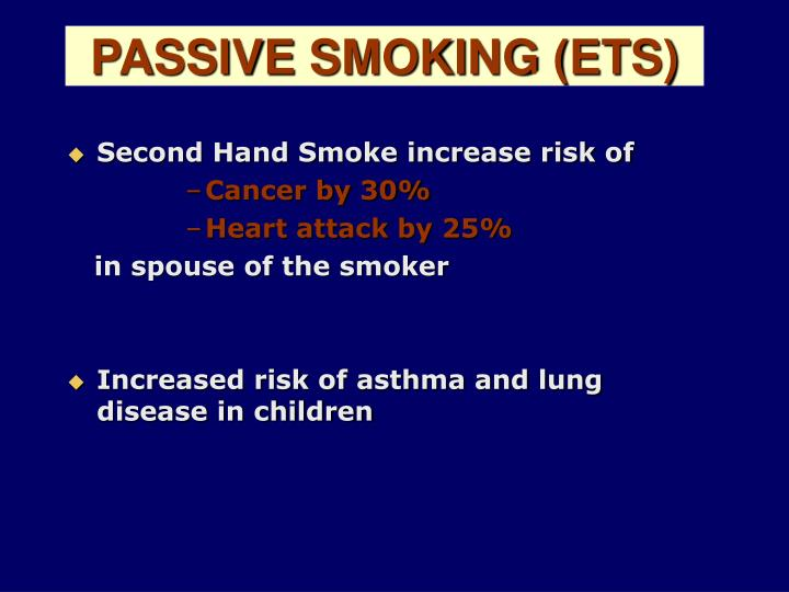 PASSIVE SMOKING (ETS)