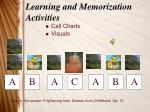 learning and memorization activities12