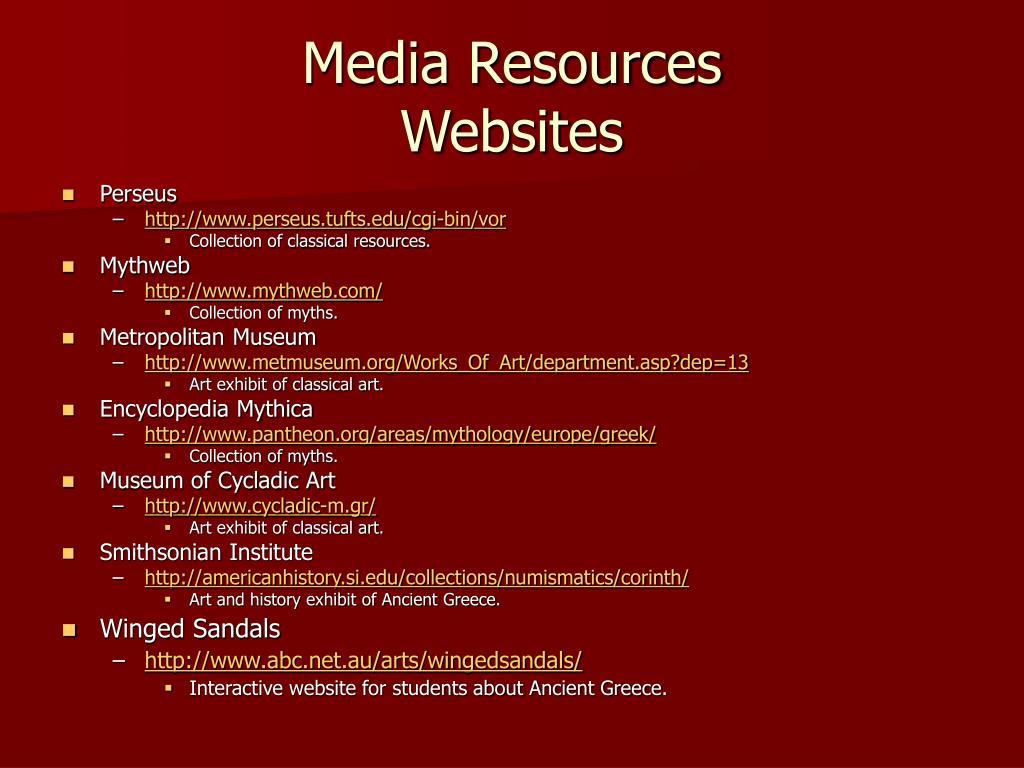 Media Resources