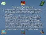 issues questions