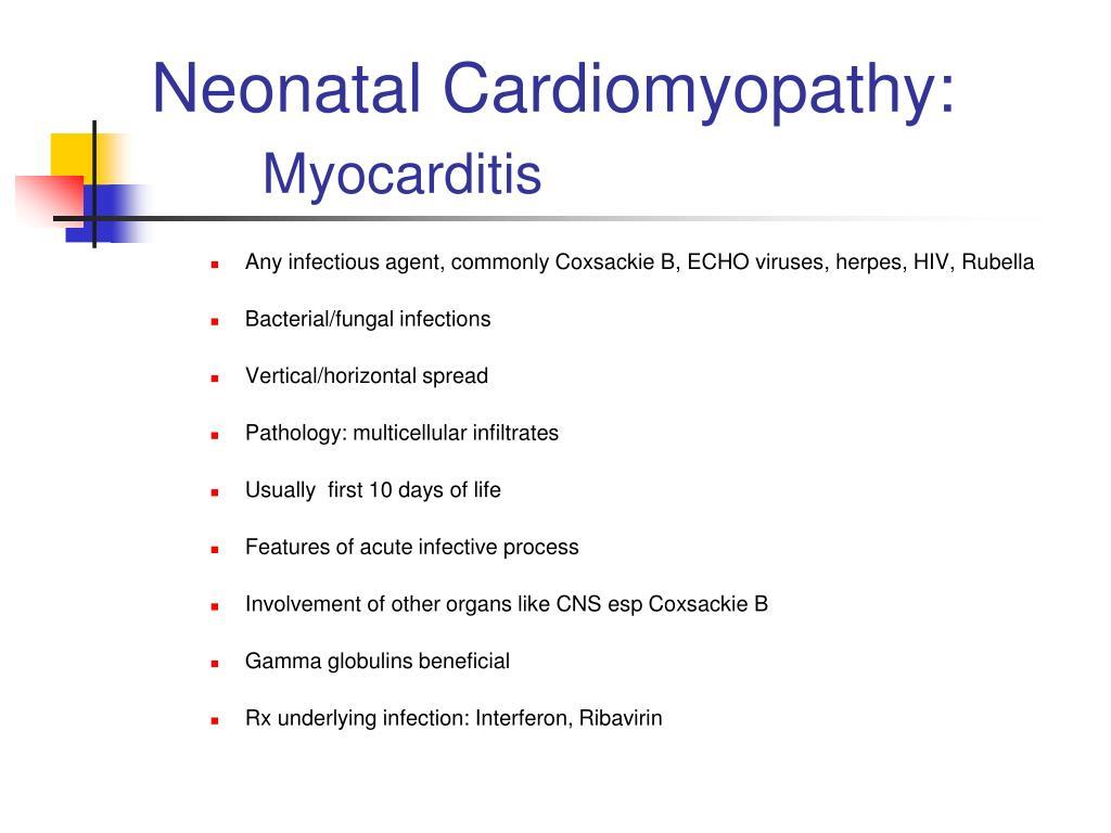 Neonatal Cardiomyopathy: