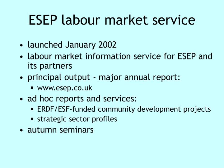 ESEP labour market service