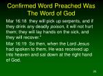 confirmed word preached was the word of god26