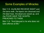 some examples of miracles10