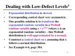 dealing with low defect levels 3