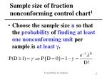 sample size of fraction nonconforming control chart 1