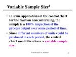 variable sample size 1