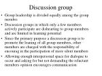 discussion group130