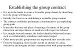 establishing the group contract