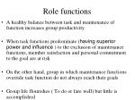role functions47
