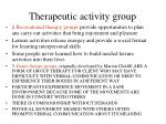 therapeutic activity group111