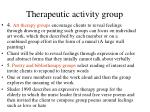 therapeutic activity group112