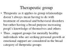 therapeutic group
