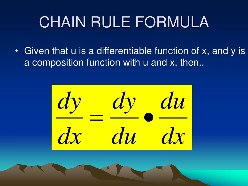 CHAIN RULE FORMULA