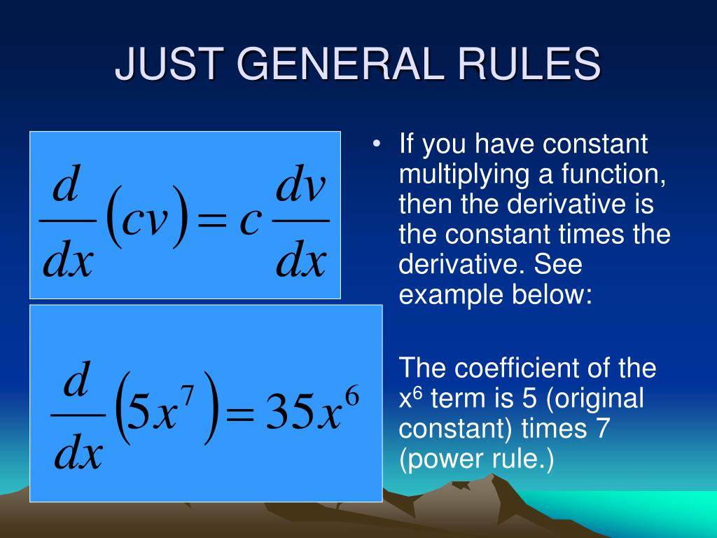 JUST GENERAL RULES