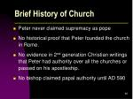 brief history of church46