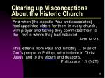 clearing up misconceptions about the historic church