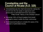 constantine and the council at nicaea a d 32532