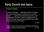 early church and jesus