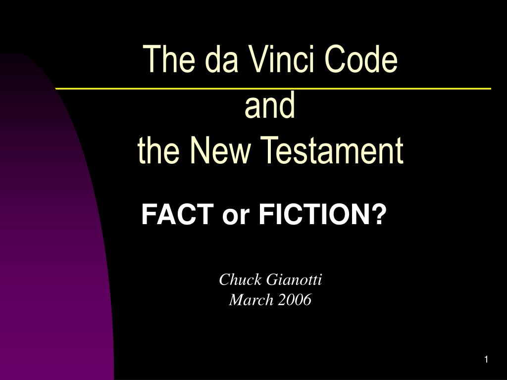 the da vinci code and the new testament l.