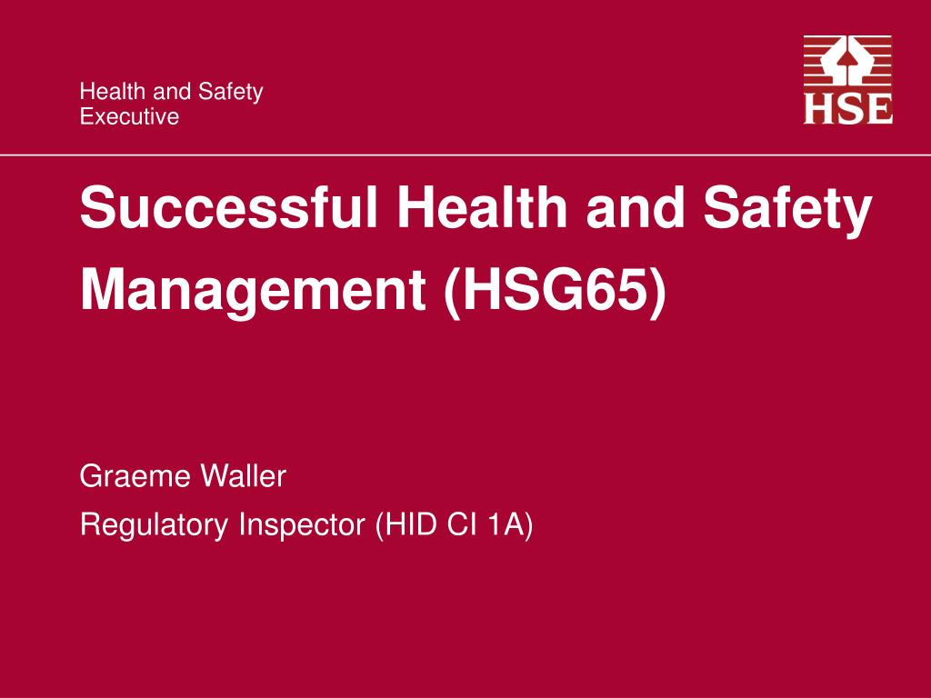 Successful Health and Safety  Management (HSG65)