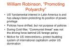 william robinson promoting polyarchy