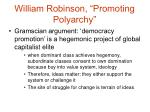 william robinson promoting polyarchy6