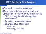 21 st century challenges