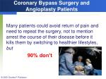 coronary bypass surgery and angioplasty patients