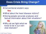 does crisis bring change127
