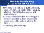 flattener 9 in forming google yahoo msn web search