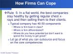how firms can cope169