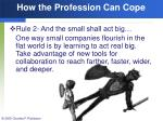 how the profession can cope60