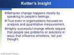 kotter s insight