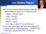 lou dobbs report