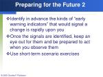 preparing for the future 2