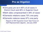 pro se litigation