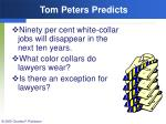 tom peters predicts