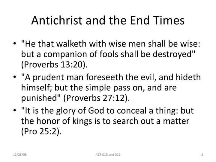 Antichrist and the end times2