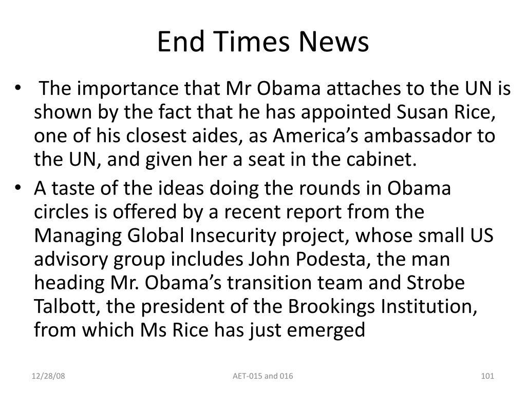 End Times News