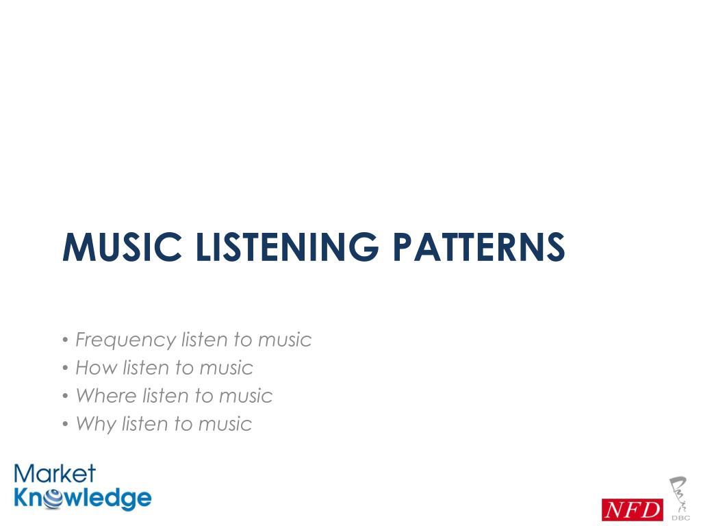 Music listening patterns